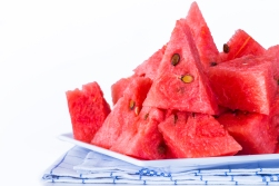 Watermelon fruit is sweet.