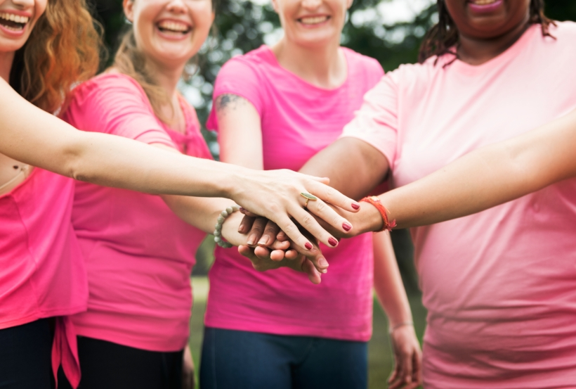 Women fighting breast cancer